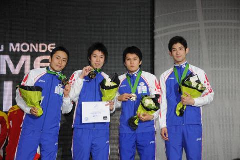 2010年世界選手権(パリ) 男子フルーレ団体メンバー
